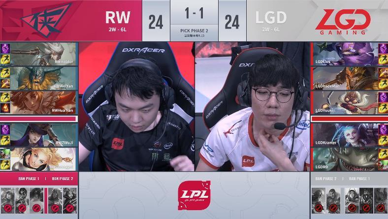 【战报】痛失强队认证,RW让一追二拿下LGD